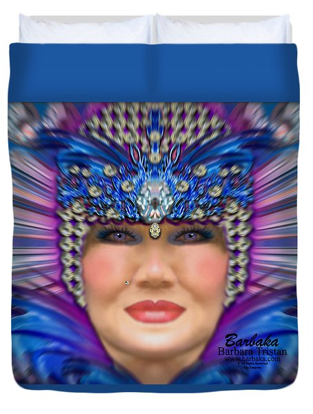 Duvet Cover featuring the photograph The Empress by Barbara Tristan