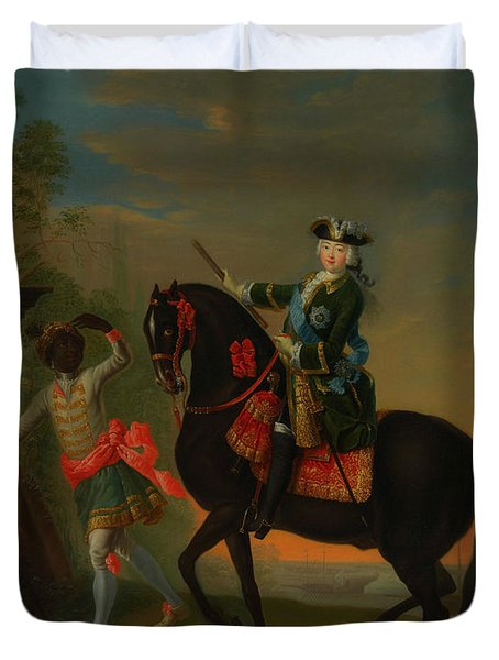 Duvet Cover featuring the painting The Empress Elizabeth Of Russia by Georg Grooth