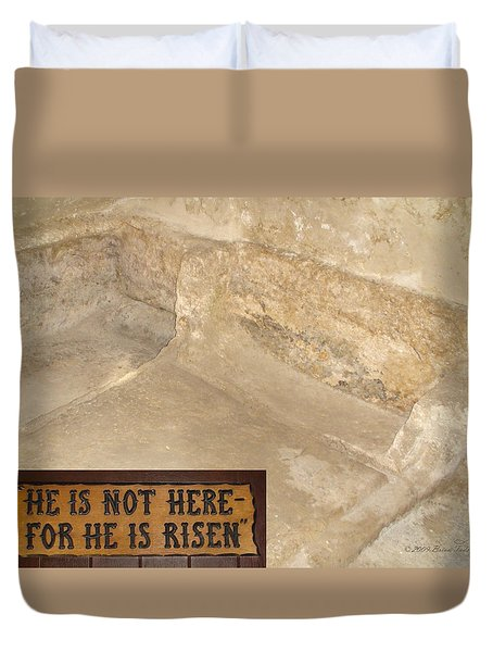 The Empty Tomb Duvet Cover