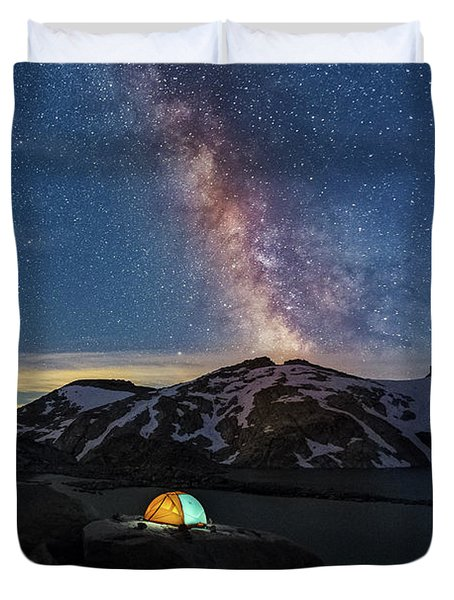 Mountain Trekking Duvet Cover