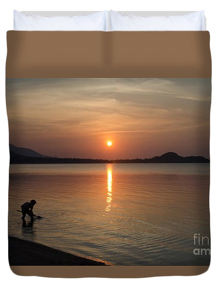 The End Of A Hot Day Duvet Cover by Michelle Meenawong
