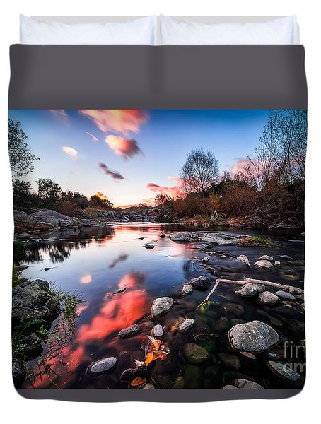 The End Of Autumn Duvet Cover by Giuseppe Torre
