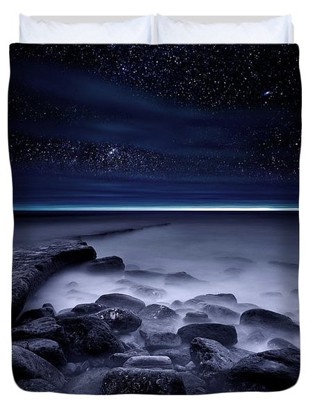 The End Of Darkness Duvet Cover
