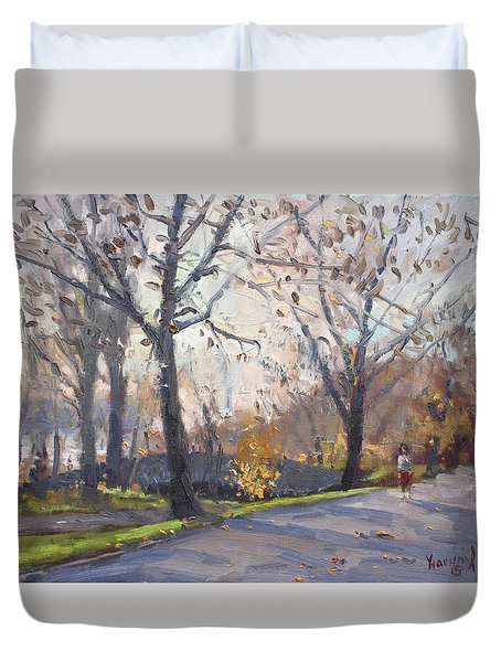 The End Of Fall At Three Sisters Islands Duvet Cover
