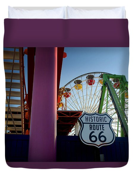 The End Of Route 66 1 Duvet Cover