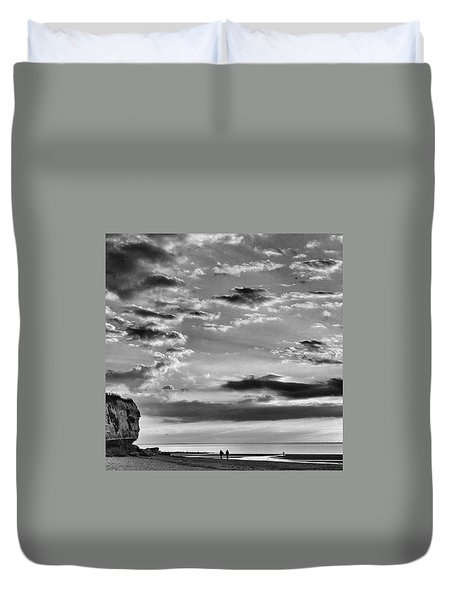 The End Of The Day, Old Hunstanton  Duvet Cover by John Edwards