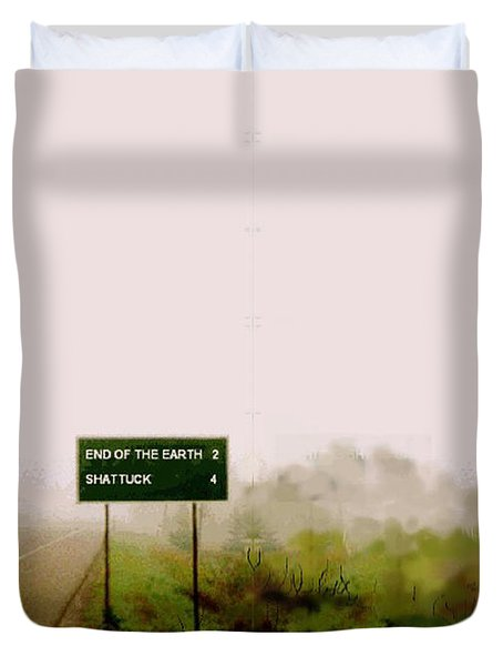 The End Of The Earth Duvet Cover
