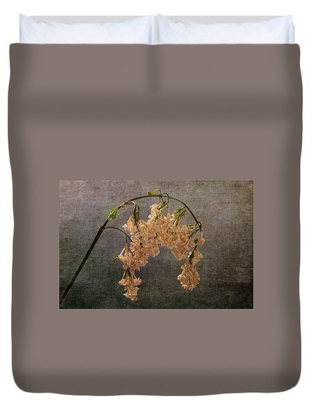 Duvet Cover featuring the photograph The End Of The Lilacs by Randi Grace Nilsberg