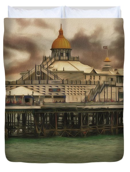 The End Of The Pier Show Duvet Cover