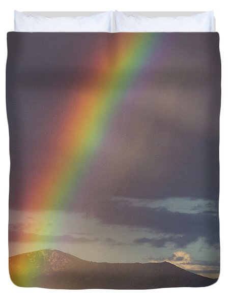 The End Of The Rainbow Is The Southwest Duvet Cover