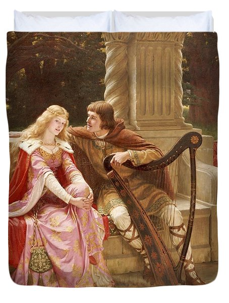 The End Of The Song Duvet Cover by Edmund Blair Leighton
