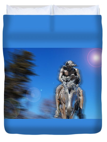 The End Of The Trail - A Tribute To The Native Americans Duvet Cover