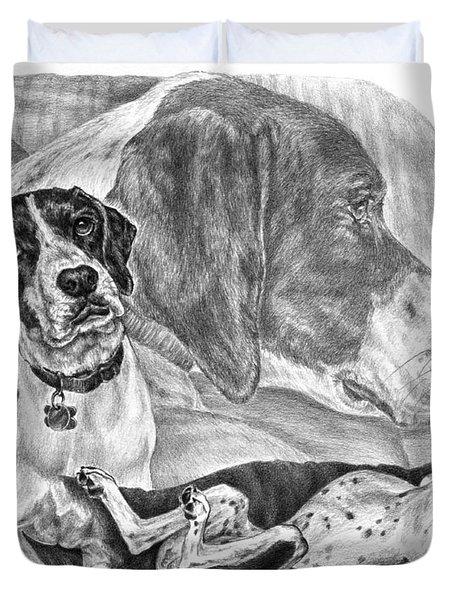 The English Major - English Pointer Dog Duvet Cover