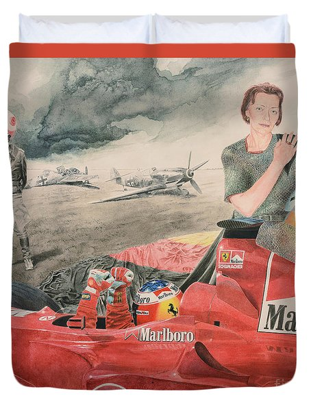 The Enigma Of Erich Hartmann Duvet Cover