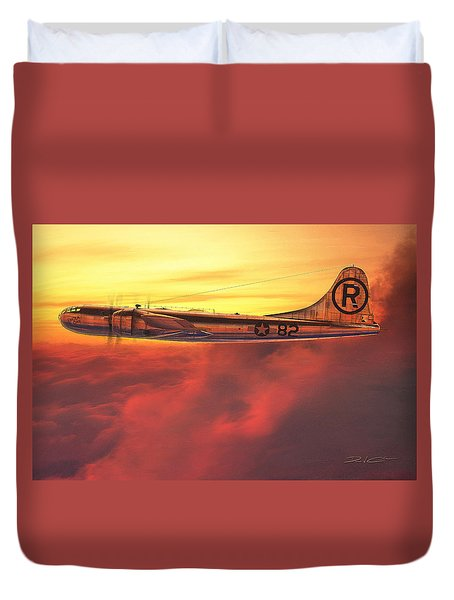 Enola Gay B-29 Superfortress Duvet Cover by David Collins