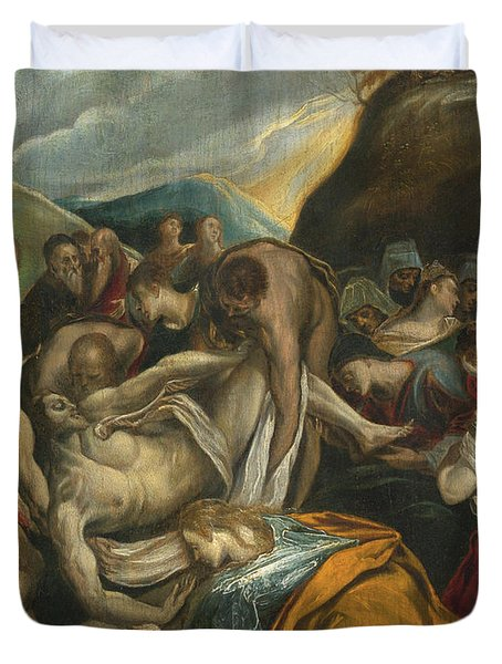 The Entombment Of Christ Duvet Cover