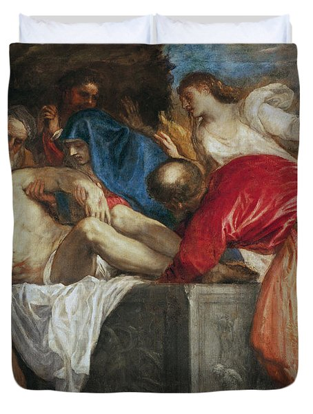 The Entombment Of Christ Duvet Cover by Titian