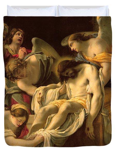 The Entombment Duvet Cover by Simon Vouet