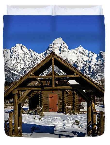 Duvet Cover featuring the photograph The Episcopal Chapel Of The Transfiguration by TL Mair