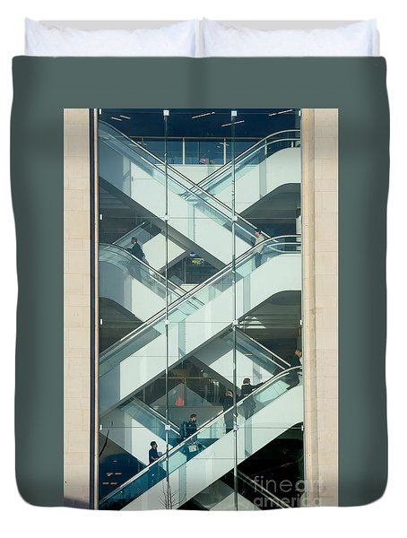 The Escalators Duvet Cover