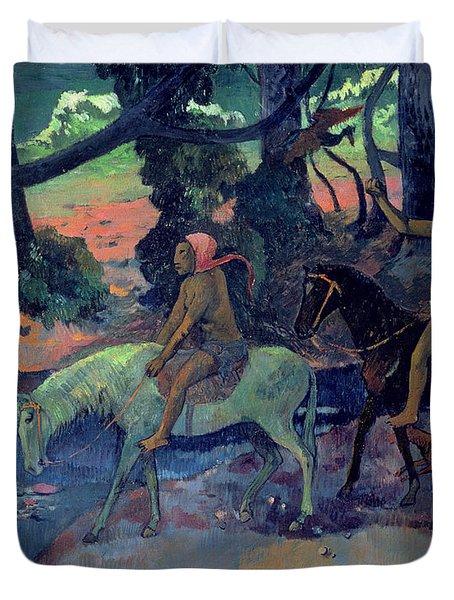 The Escape Duvet Cover by Paul Gauguin