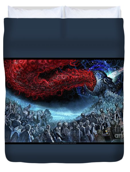 The Essence Of Time Matches No Flesh Duvet Cover