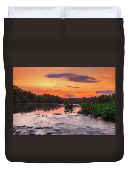 The Eve On The River Duvet Cover