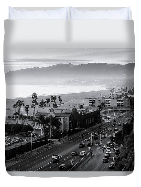 The Evening Drive Home Duvet Cover
