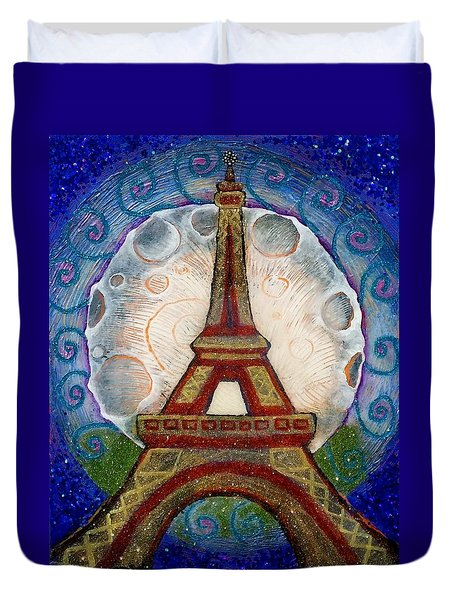The Evening Of A Ready-wish Upon A Parisian High Point Duvet Cover