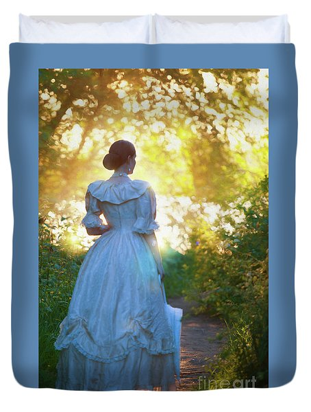 The Evening Walk Duvet Cover