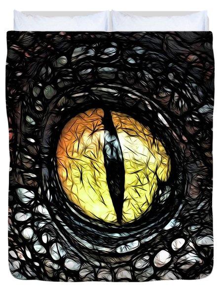 The Evil Eye By Raphael Terra Duvet Cover