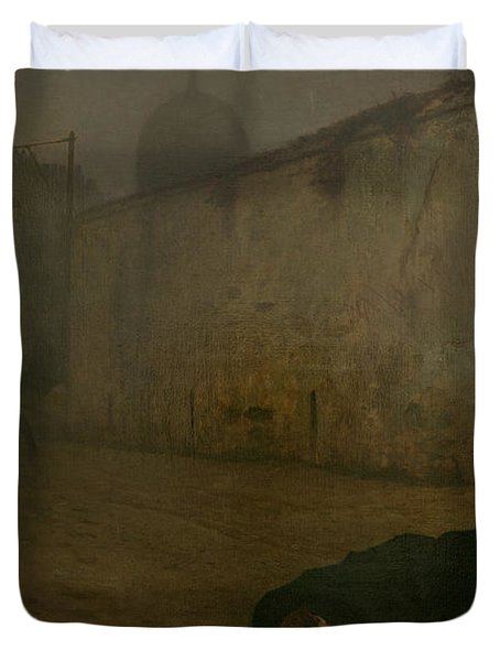 The Execution Of Marshal Ney Duvet Cover by Jean Leon Gerome