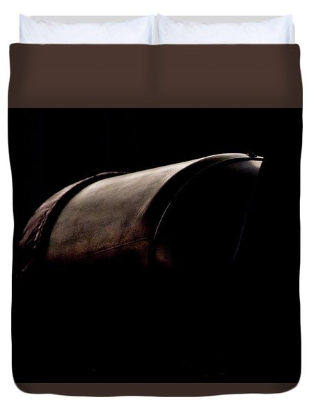 Duvet Cover featuring the photograph The Exhaust by Paul Job