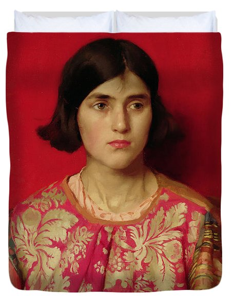 The Exile - Heavy Is The Price I Paid For Love Duvet Cover by Thomas Cooper Gotch