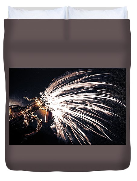 Duvet Cover featuring the photograph The Exploding Growler by David Sutton