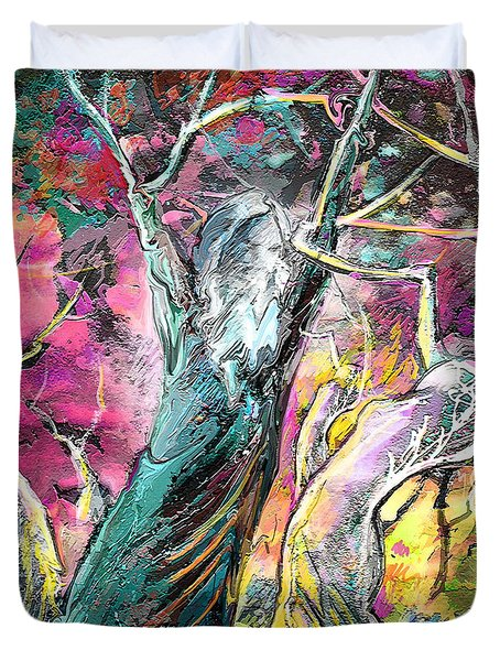 The Expulsion From Paradise Duvet Cover