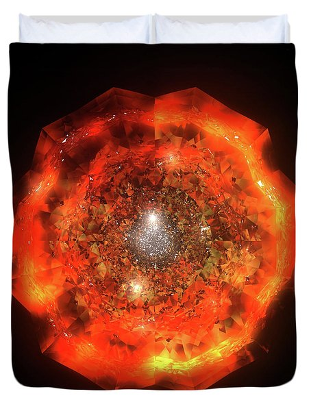 The Eye Of Cyma - Fire And Ice - Frame 146 Duvet Cover