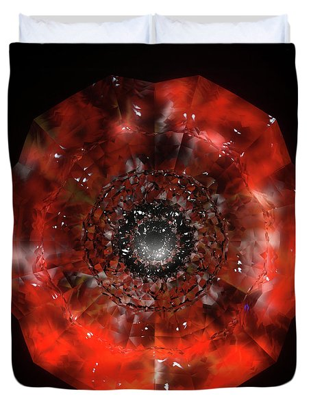 The Eye Of Cyma - Fire And Ice - Frame 45 Duvet Cover