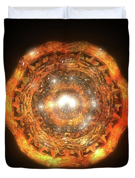 The Eye Of Cyma - Fire And Ice - Frame 7 Duvet Cover
