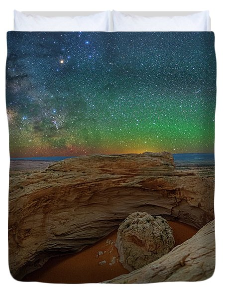 The Eye Of Earth Duvet Cover