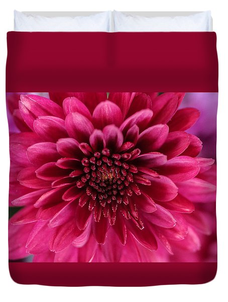 The Eye Of Pink Flower Duvet Cover