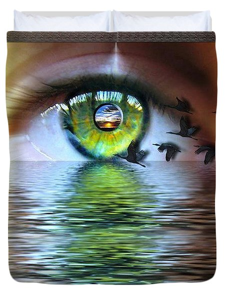 The Eye Of The Observer Duvet Cover by Nadine May