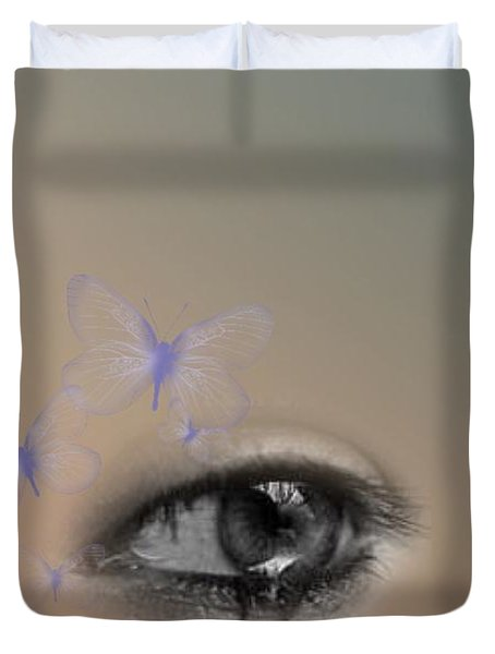 The Eyes Don't Lie Duvet Cover