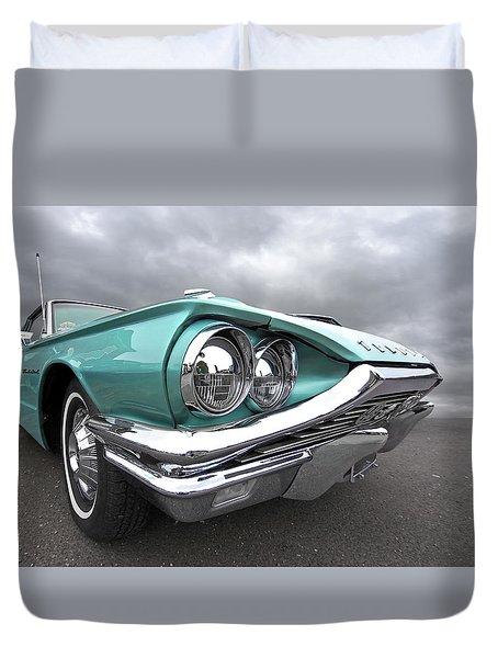The Eyes Have It - 1964 Thunderbird Duvet Cover by Gill Billington