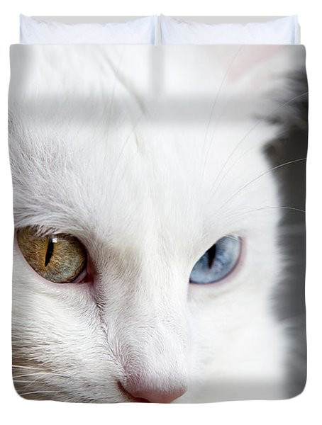 The Eyes Duvet Cover by Jorge Maia