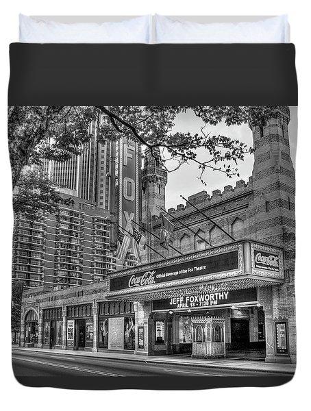 The Fabulous Fox Theatre Bw Atlanta Georgia Art Duvet Cover