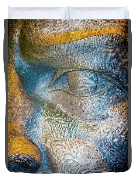 The Face Is A Picture Of The Mind With The Eyes As Its Interpreter. Cicero Duvet Cover