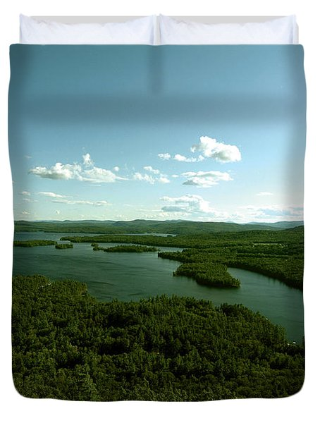 The Face Of Squam Duvet Cover by Rick Frost