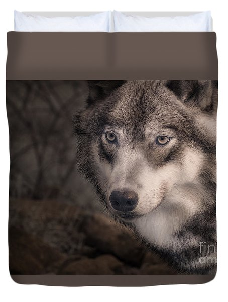 The Face Of Teton Duvet Cover