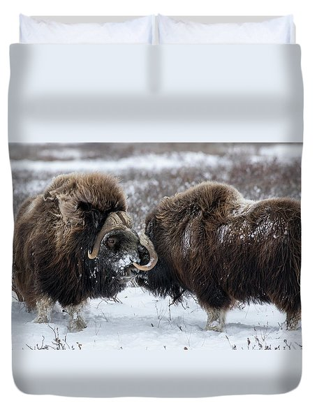 The Face Off  Duvet Cover